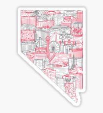 Las Vegas Skyline Art Sticker