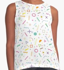 80s shapes Contrast Tank