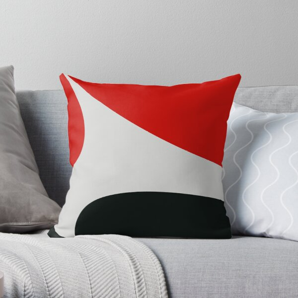 Black,white, red design Dekokissen