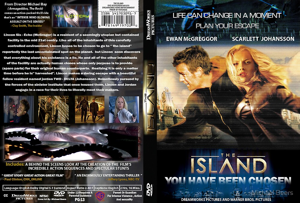THE ISLAND DVD COVER I MADE IN PHOTOSHOP (just to show) by Michael Beers