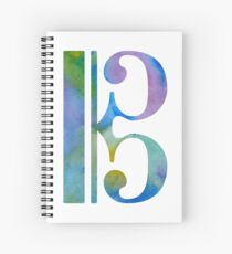 Alto clef Spiral Notebook