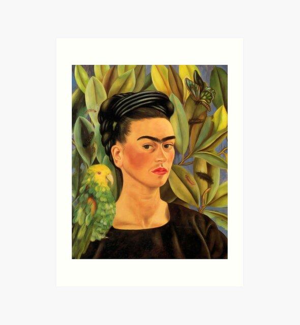 Frida Kahlo Self-portrait with Bonito by simbafabbri