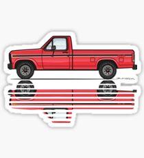 82 Red XLS Sticker