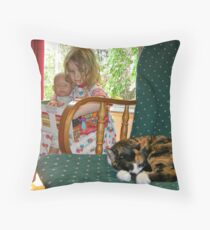"""""""Me and My Doll"""" #2 Throw Pillow"""