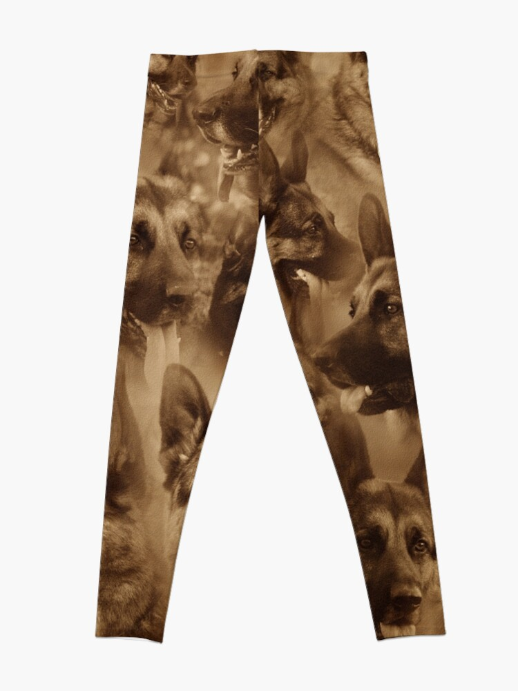 Alternate view of German Shepherd Collage Leggings
