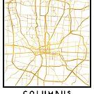 COLUMBUS OHIO CITY STREET MAP ART by deificusArt