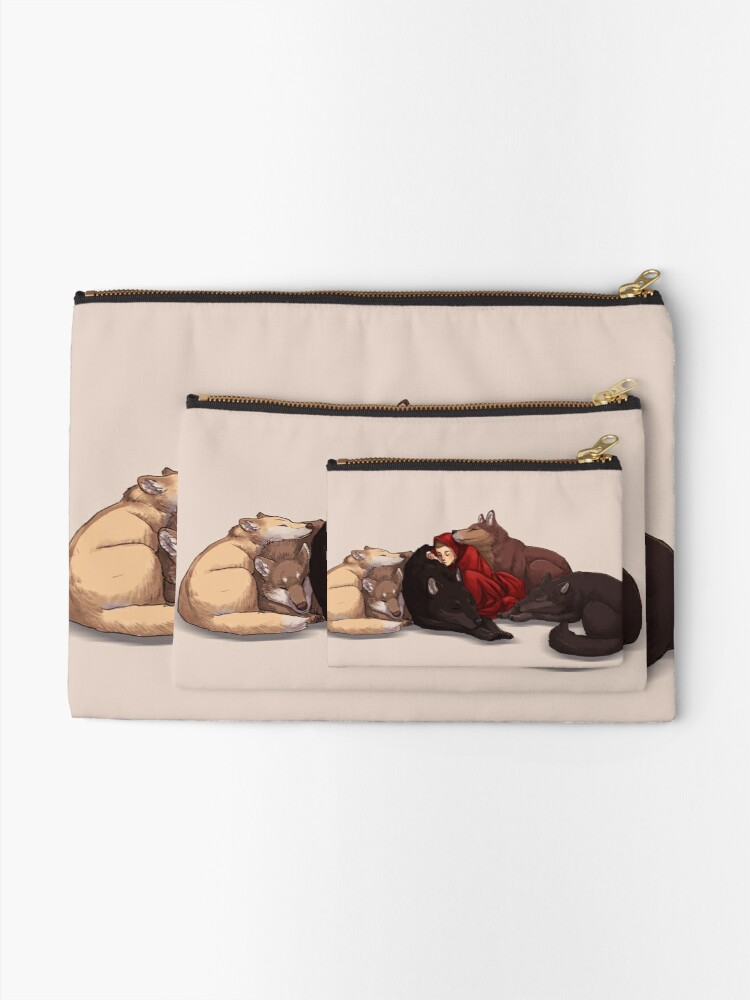 Alternate view of Wolf Pack Zipper Pouch