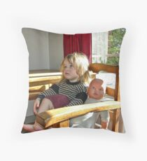 """""""Me and My Doll"""" #3 Throw Pillow"""