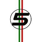sebastian vettel #5 Italian stripes by david-satrio