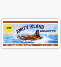 Amity Island Welcomes You : Inspired by Jaws Sticker