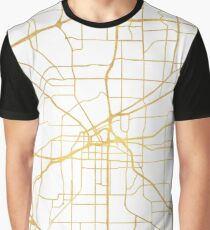 FORT WORTH CITY STREET MAP ART Graphic T-Shirt