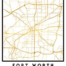 FORT WORTH CITY STREET MAP ART by deificusArt