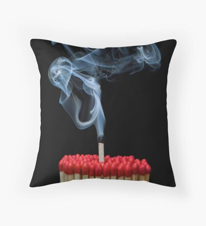 Burnt Out II Throw Pillow