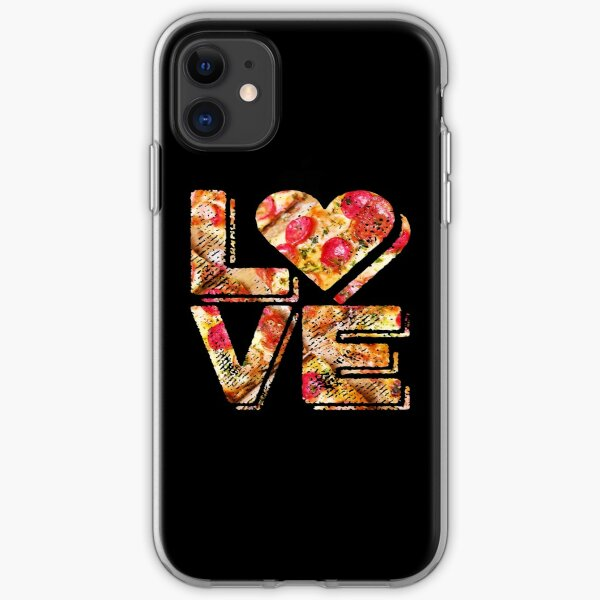 I Love Heart Pizza Yummy Pepperoni Cheese Bread iPhone Soft Case