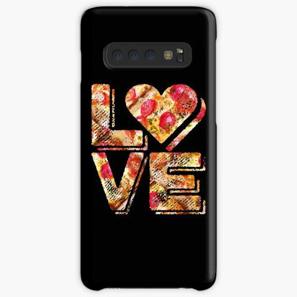 I Love Heart Pizza Yummy Pepperoni Cheese Bread Samsung Galaxy Snap Case