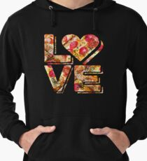 I Love Heart Pizza Yummy Pepperoni Cheese Bread Lightweight Hoodie