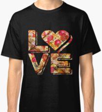 I Love Heart Pizza Yummy Pepperoni Cheese Bread Classic T-Shirt