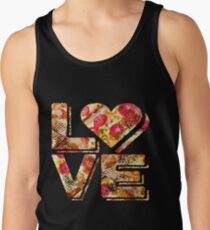 I Love Heart Pizza Yummy Pepperoni Cheese Bread Tank Top
