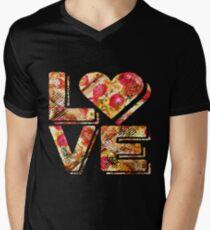 I Love Heart Pizza Yummy Pepperoni Cheese Bread Men's V-Neck T-Shirt
