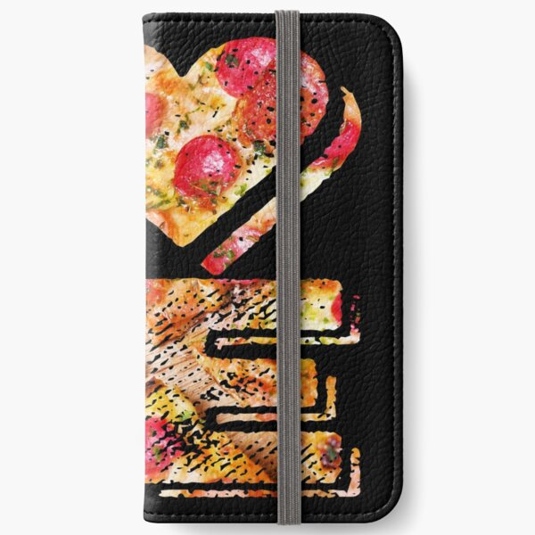 I Love Heart Pizza Yummy Pepperoni Cheese Bread iPhone Wallet