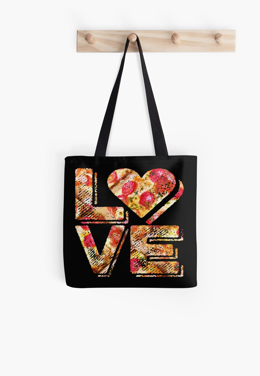 I Love Heart Pizza Yummy Pepperoni Cheese Bread by Beverly Claire Kaiya