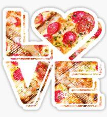 I Love Heart Pizza Yummy Pepperoni Cheese Bread Sticker