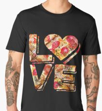 I Love Heart Pizza Yummy Pepperoni Cheese Bread Men's Premium T-Shirt