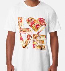 I Love Heart Pizza Yummy Pepperoni Cheese Bread Long T-Shirt