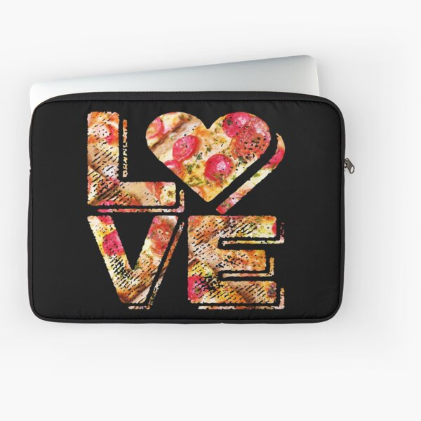 I Love Heart Pizza Yummy Pepperoni Cheese Bread Laptop Sleeve