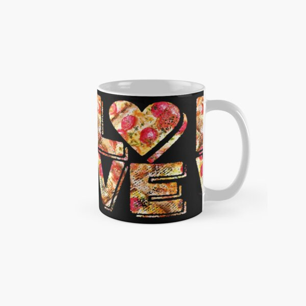 I Love Heart Pizza Yummy Pepperoni Cheese Bread Classic Mug