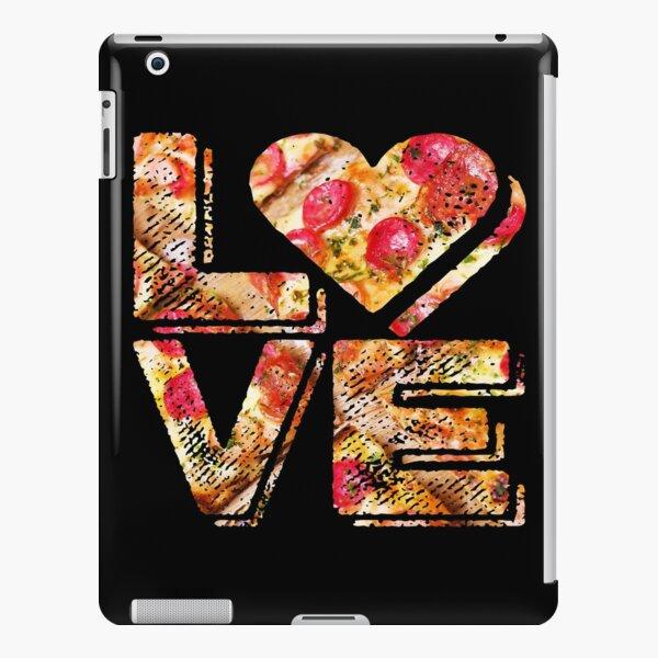 I Love Heart Pizza Yummy Pepperoni Cheese Bread iPad Snap Case