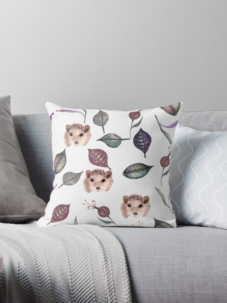Autumn hedgehogs and leaves pattern by fuzzyfox