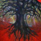 Red Tree by Wojtek Kowalski