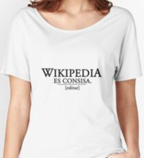 Wikipedia es consisa Women's Relaxed Fit T-Shirt
