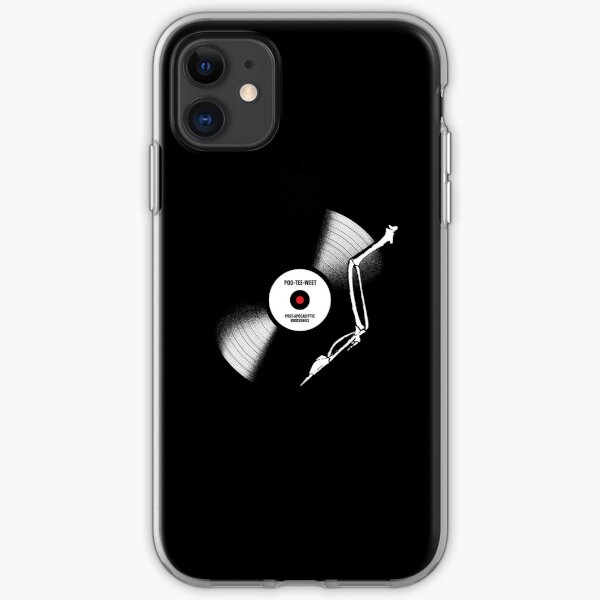 post-apocalyptic birdsongs in 33 rpm iPhone Soft Case