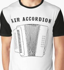 Air Accordion - Funny Musician Squeeze Box Graphic T-Shirt