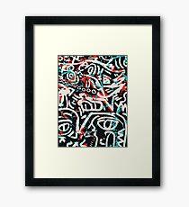 Street Art Graffiti Pattern Ink and Posca  Framed Print