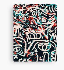 Street Art Graffiti Pattern Ink and Posca  Canvas Print