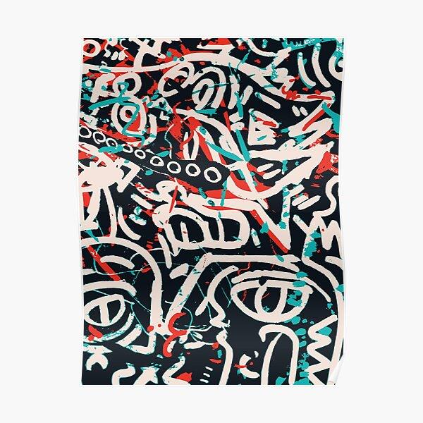 Street Art Graffiti Pattern Ink and Posca  Poster