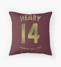 Thierry Henry Arsenal Highbury Red Currant Shirt Throw Pillow