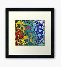 Abstract Collage of Pansies Framed Print