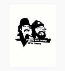 Cheech and Chong Up In Smoke hemp Art Print