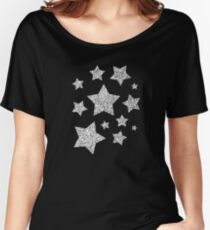 Beautiful Silver glitter sparkles Women's Relaxed Fit T-Shirt