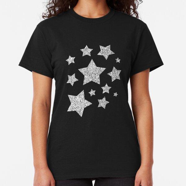 Beautiful Silver glitter sparkles Classic T-Shirt