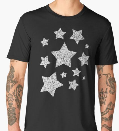 Beautiful Silver glitter sparkles Men's Premium T-Shirt