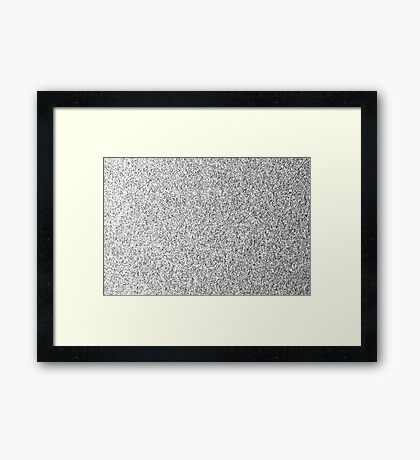Beautiful Silver glitter sparkles Framed Print