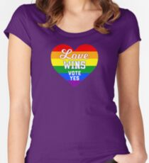 Vote Yes Australia  Women's Fitted Scoop T-Shirt