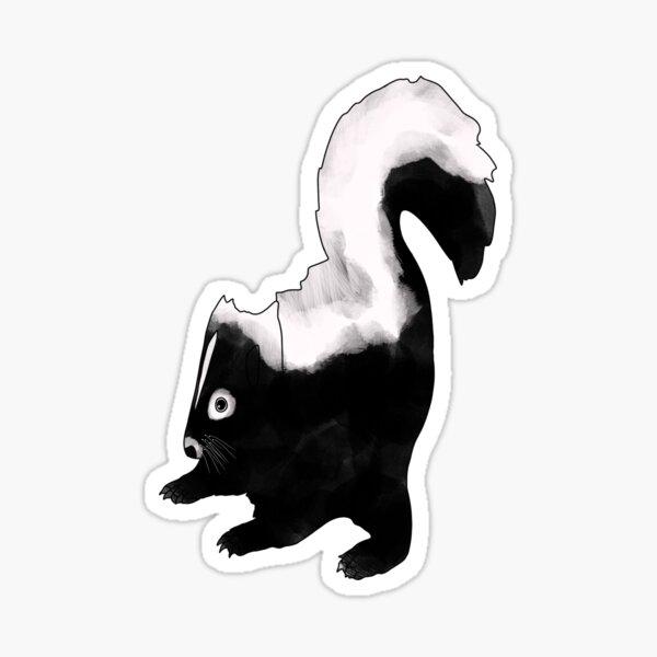 Bohemian Woodland Creature Design, Skunk Sticker