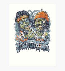 Cheech and Chong Up In Smoke hemp Marijuana Zombie Art Print
