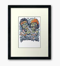 Cheech and Chong Up In Smoke hemp Marijuana Zombie Framed Print